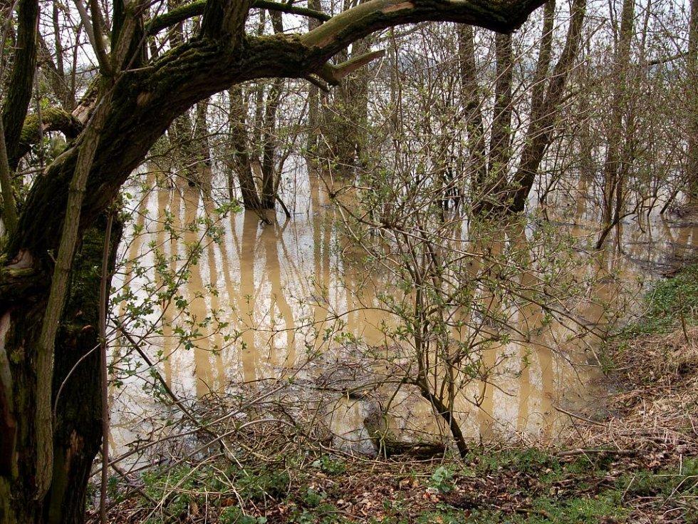 Řádění přírodních živlů na Chebsku - zatopené Nebanice
