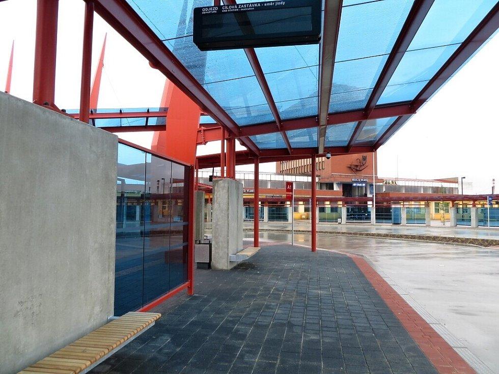 Autobusový terminál v Chebu.