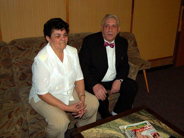 Manželé Červeňákovi z Milhostova na Chebsku oslavili zlatou svatbu