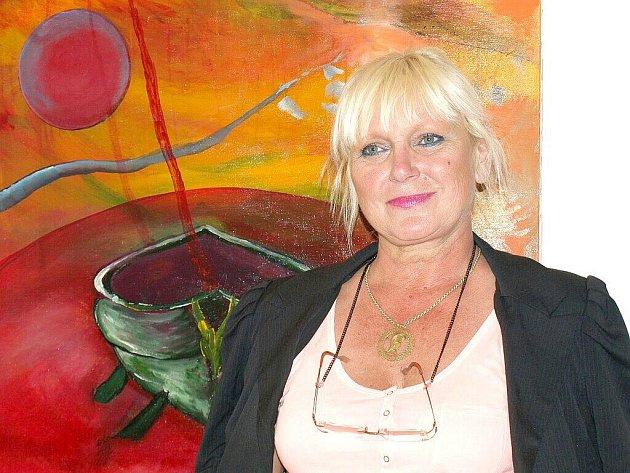 Výstava Ireny Kolmanové začala v Malé výstavní síni františkolázeňské galerie Brömse.