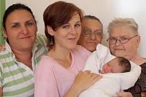 A v porodnici se díky návštěvám sešlo pět generací rodiny – Magdalénka, její maminka, babička, prababička a praprababička.