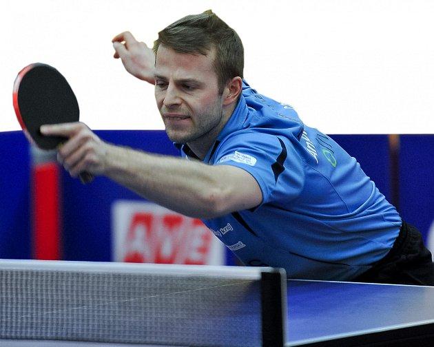 Lídr týmu stolních tenistů z Františkových Lázní Antonin Galvas mladší.
