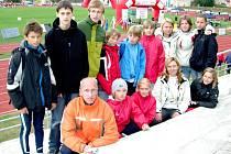 ZÁSTUPCI ODDÍLU SKP Union Cheb, kteří se  zúčastnili European Kids Athletics Games v Brně.