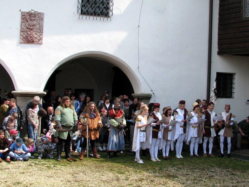 Karel IV. na hradě Seeberg