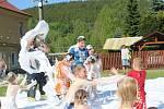Soutěže si užily milíkovské děti u příležitosti tradiční oslavy dětského dne.
