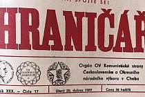 Hraničář z 25. dubna 1989.