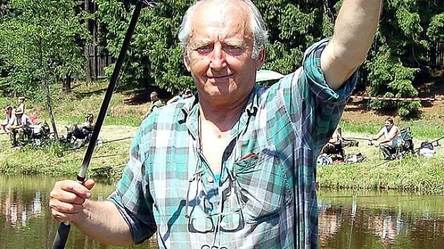 Rybářských závodů se zúčastnil i Rudolf Fatka