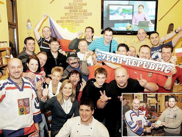 Fanoušci sledující olympiádu se setkávají i v restauračních zařízeních.