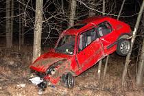 Havarovaný automobil po nehodě