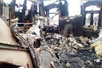 Z místa požáru hotelu v Mariánských Lázních.