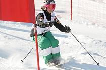 Na svahu Skiarea M. Lázně se jede dnes závod Světového poháru v akrobatiickém lyžování – pararelním sjezdu na boulích. V pátek se jely tréninkové jízdy. Na snímku česká olympionička Nikola Sudová. Dnes se jede finále.