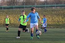 Fotbalový zápas Okresního přeboru mladších žáků