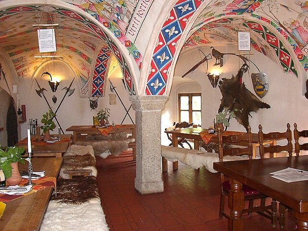 Hodovní síň hradu Vildštejn ve Skalné