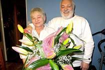 ANTONIE A LUDVÍK Klimentovi z Chebu oslavili zlatou svatbu.