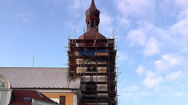 Autor nejlepšího snímku opravy  kostela získá mobilní telefon.