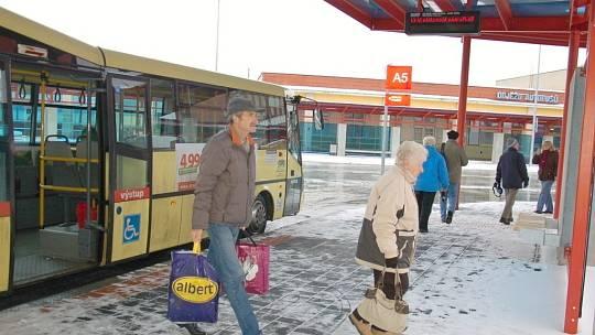 Dopravní terminál v Chebu.
