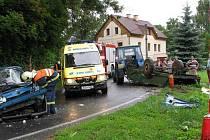 Vážná dopravní nehoda ve Štědré na Toužimsku