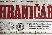 Co se psalo v chebském Hraničáři před 30 lety, 8. srpna 1989.
