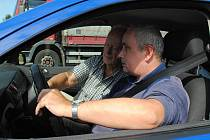 Jízdu osobním vozidlem si nenechal ujít ani Jirka Matějný z Prahy