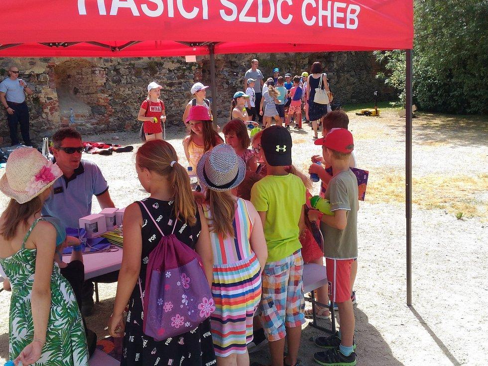 Prostranství pod hradem Cheb se proměnilo v místo, kde se děti i dospělí mohli naučit zachránit lidský život.