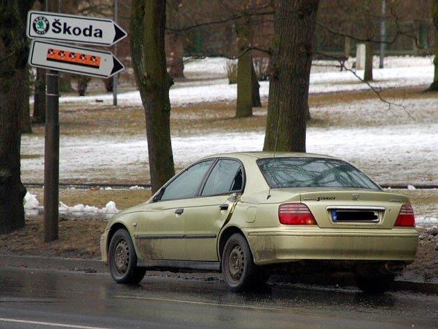 Dopravní nehoda hasičského a osobního auta na Evropské ulici v Chebu, ke které došlo v úterý 10. února před polednem