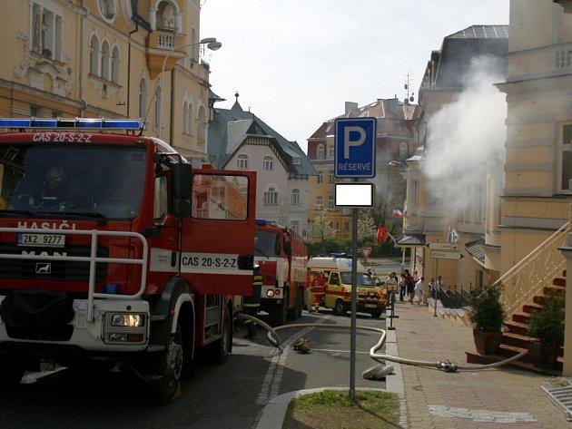 Požár hotelové sauny způsobil škodu za zhruba 4,8 milionu korun