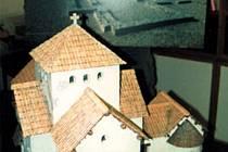 Model kostela Panny Marie v Sadech u Uherského Hradiště