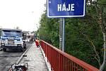 Práce na opravě mostu do Hájů běží dle harmonogramu.