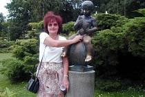Socha Františka - symbol Františkových Lázní