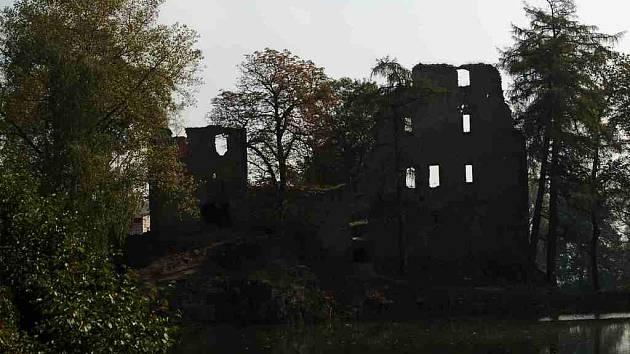 Zřícenina hradu ve Starém Rybníce na Chebsku