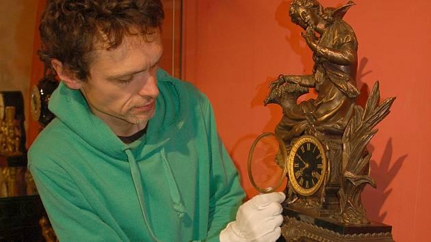 NA VÝSTAVĚ v Muzeu Cheb budou k vidění i hodiny chebského hodináře Kaspara Alberta Müllera.