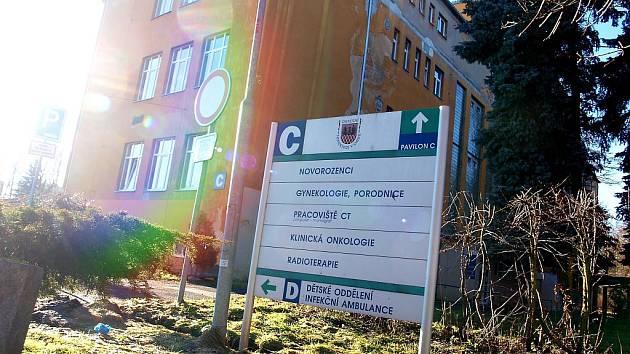 Pavilon C chebské nemocnice.