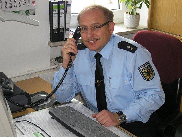 Dieter Pfitzner, mluvčí selbských policistů
