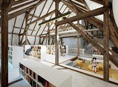 Takto by mohla v budoucnu vypadat Městská knihovna v Chebu.