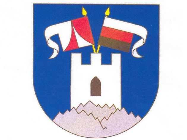 Obec Podhradí už má vybraný znak a vlajku. Doteď žádný neměla. Ze dvou návrhů vybrali sami občané ten s číslem dva. V modrém poli je bílá věž opatřená vlajkami, které symbolizují panovnické rody  Neubergů a Zedwitzů.