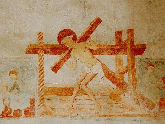 Unikátní freska v kostele svatého Jakuba Většího v Pomezí nad Ohří.