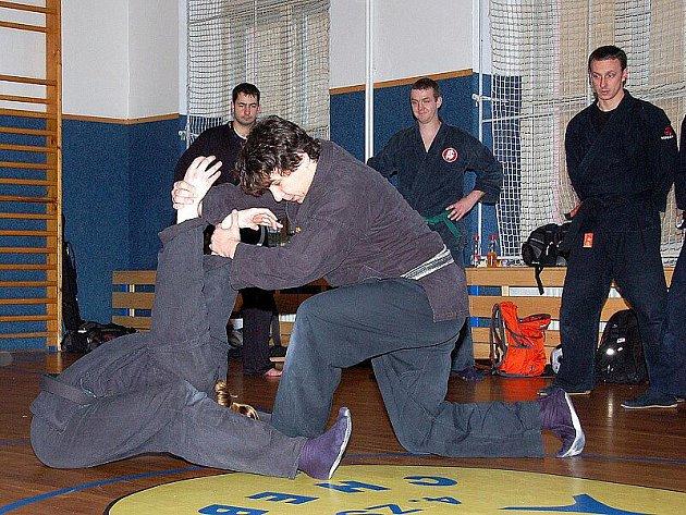 Pod vedením instruktora Shihana Pavla Slavíka se ve 4. Základní škole v Chebu uskutečnil seminář bojových sportů.