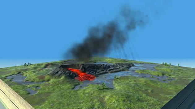 Unikátní 3D animaci, která názorně ukazuje vznik jedné z nejslavnějších vyhaslých sopek světa, se podařilo dokončit českým vědcům. V krátkém videu je vidět, nejen jak vypadalo okolí sopky před jejím výbuchem.