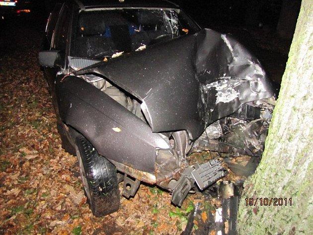 OPILÝ MLADÍK neudržel svůj opel na silnici a skončil ve stromě. Při nehodě se zranil jen lehce, ale policistům bude mít ještě co vysvětlovat, protože nadýchal téměř 1,8 promile alkoholu.