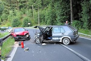 Dopravní nehoda u Pozorky na Karlovarsku