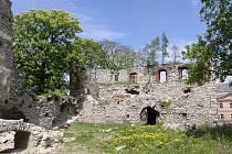 Zřícenina hradu Starý Rybník.