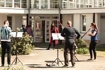 Hudebníci potěšili seniory v Mariánských Lázních i v Plané. Foto: Markéta Monsportová