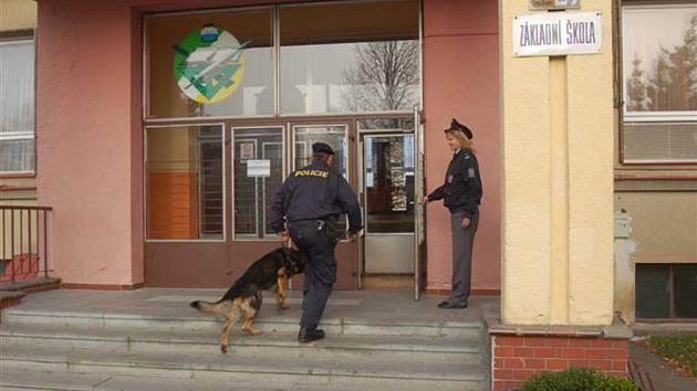 Policejní razie ve františkolázeňské základní škole