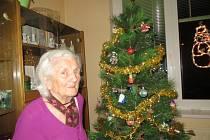 Marie Buriánková z Chebu oslavila 95. Vánoce.