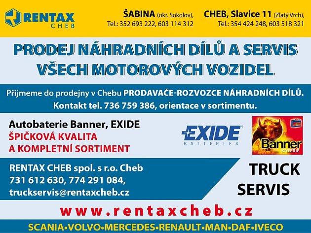Rentax Cheb/reklama