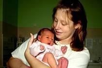 DOMINIKA ČECHVALOVÁ se narodila v pátek 19. listopadu v 0.37 hodin. Při narození vážila 2840 gramů a měřila 47 centimetrů. Doma v Hartoušově se z malé dcerušky raduje maminka Lucie spolu s tatínkem Davidem.