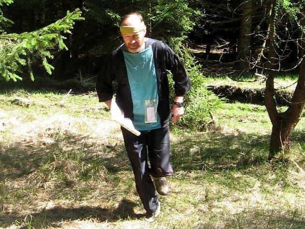 Jarní trojúhelník si zaběhl také trenér reprezentace v radiovém OB Miroslav Vlach z Chebu.