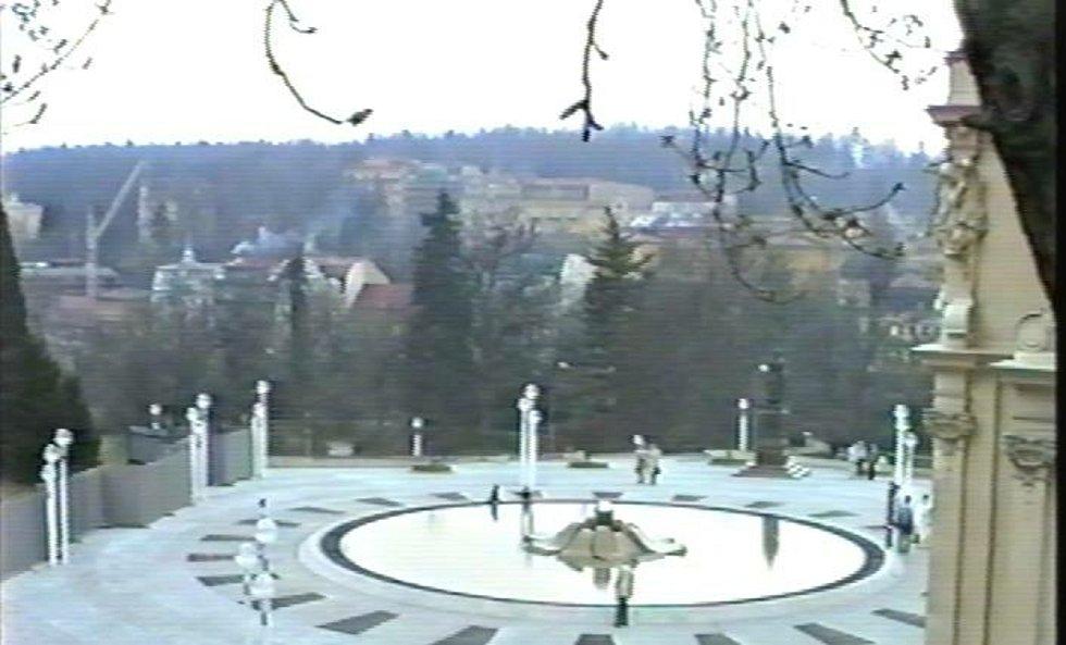 Zpívající fontána zřejmě v roce 1988.