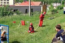 NA DĚTSKÝCH hasičských soutěžích už nebudou k vidění stále stejné tváře. V Drmoulu je dostatek hasičského potěru, který už se chystá na nejbližší závody.