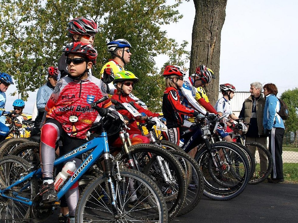 Cyklistické závody v Lipové.